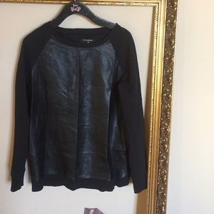 Faux Leather (Looking) Sweatshirt